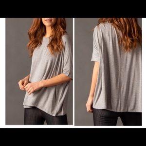 Gray Boxy Top Tshirt